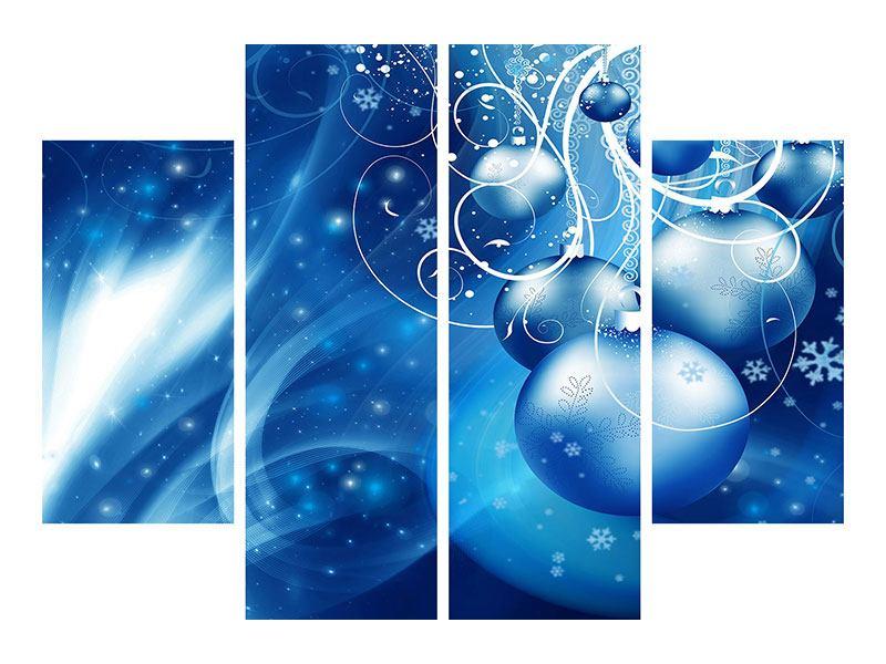 Acrylglasbild 4-teilig Shingle Bells