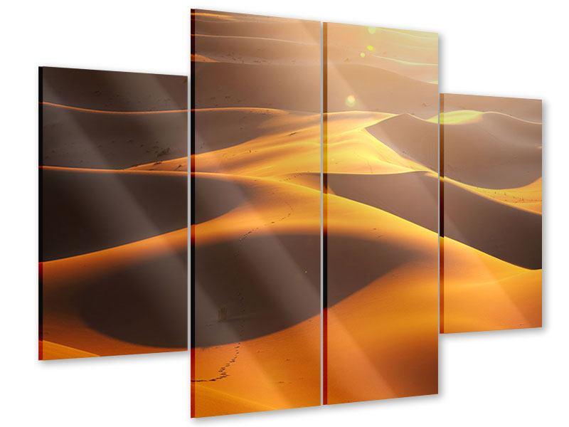 Acrylglasbild 4-teilig Wüstenwanderung