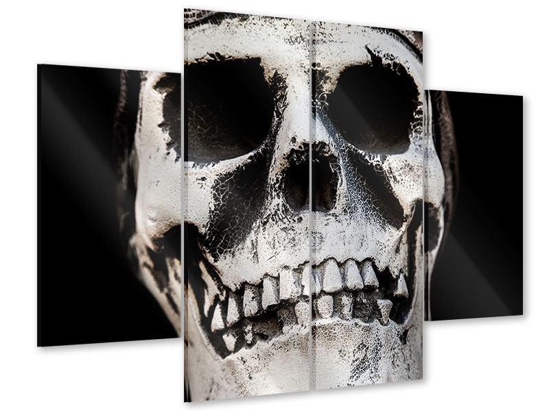Acrylglasbild 4-teilig Skull