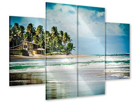 Acrylglasbild 4-teilig The Beach