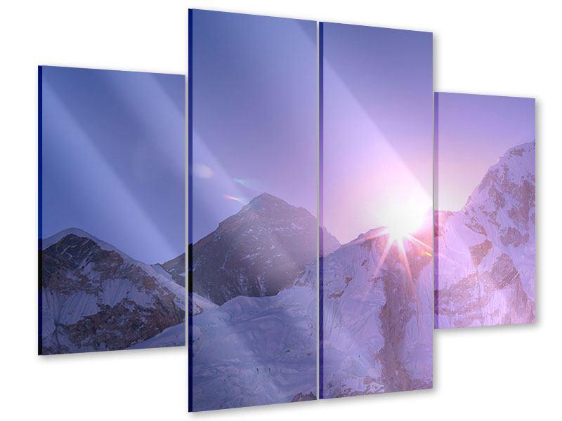 Acrylglasbild 4-teilig Sonnenaufgang beim Mount Everest