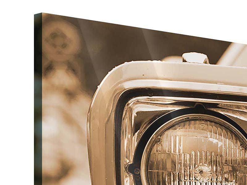 Acrylglasbild 4-teilig Oldtimer Close up