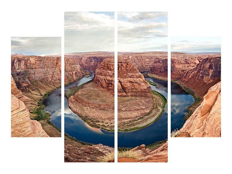 Acrylglasbild 4-teilig Horseshoe Bend