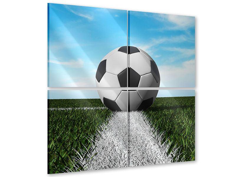 Acrylglasbild 4-teilig Der Fussball