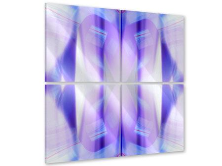 Acrylglasbild 4-teilig Abstrakte Sicht