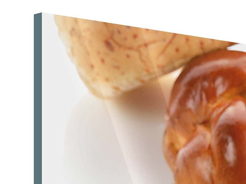 Acrylglasbild 4-teilig Frühstücksbrötchen