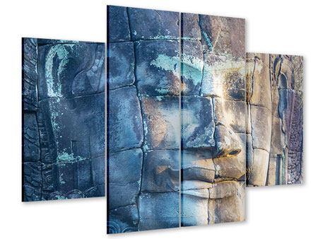 Acrylglasbild 4-teilig Buddha Statur