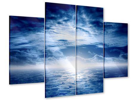 Acrylglasbild 4-teilig Mystischer Himmel