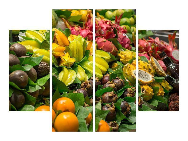Acrylglasbild 4-teilig Früchte