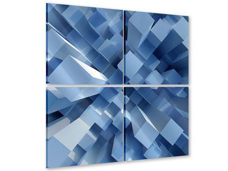 Acrylglasbild 4-teilig 3D-Säulen