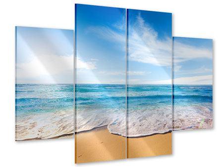 Acrylglasbild 4-teilig Spuren im Sand