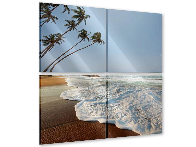 Acrylglasbild 4-teilig Der Fels