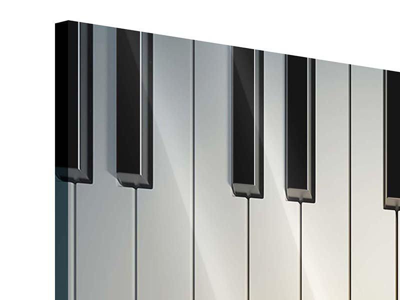 Acrylglasbild 4-teilig Klaviertasten