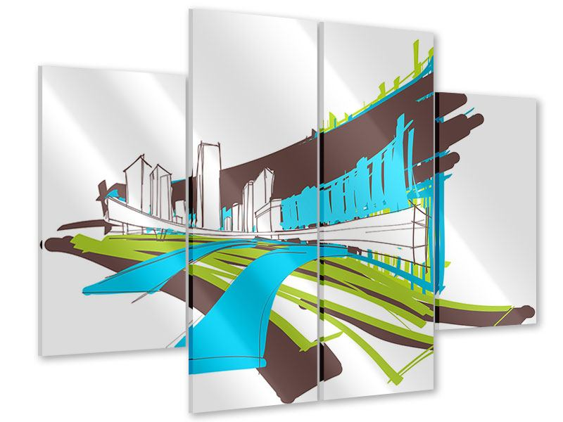 Acrylglasbild 4-teilig Graffiti Street-Art