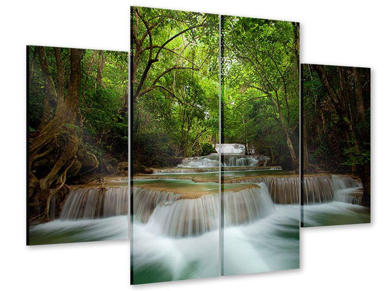 Acrylglasbild 4-teilig Die 7 Stufen