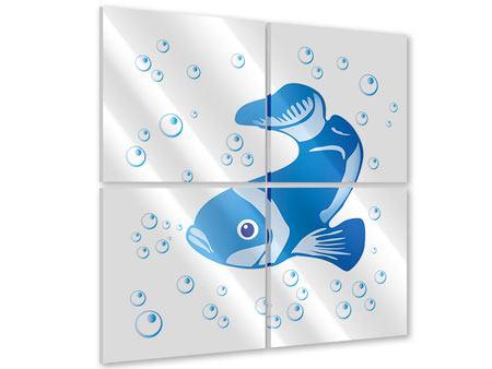 Acrylglasbild 4-teilig Fischi
