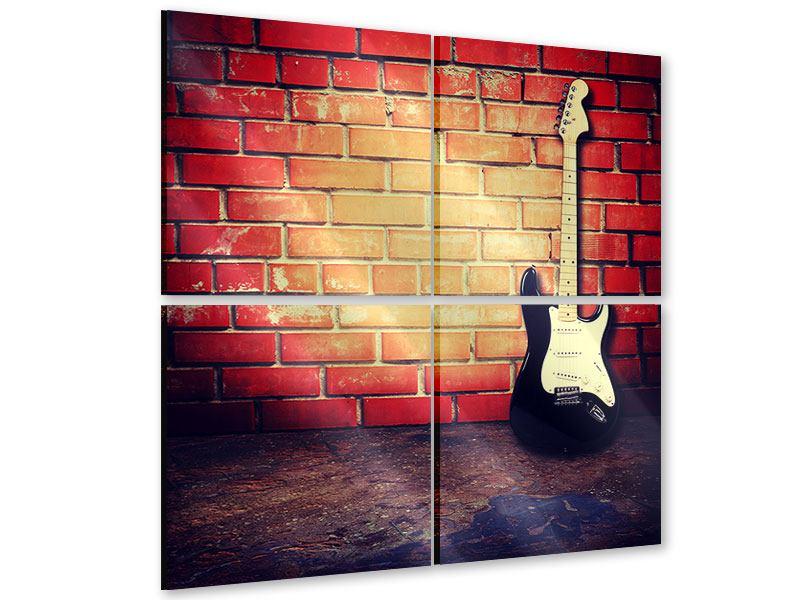 Acrylglasbild 4-teilig E-Gitarre