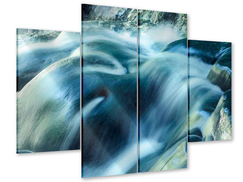 Acrylglasbild 4-teilig Das Fliessende Wasser