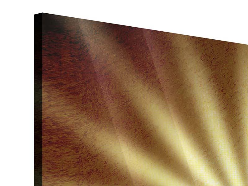 Acrylglasbild 4-teilig Abstrakte Sonnenstrahlen