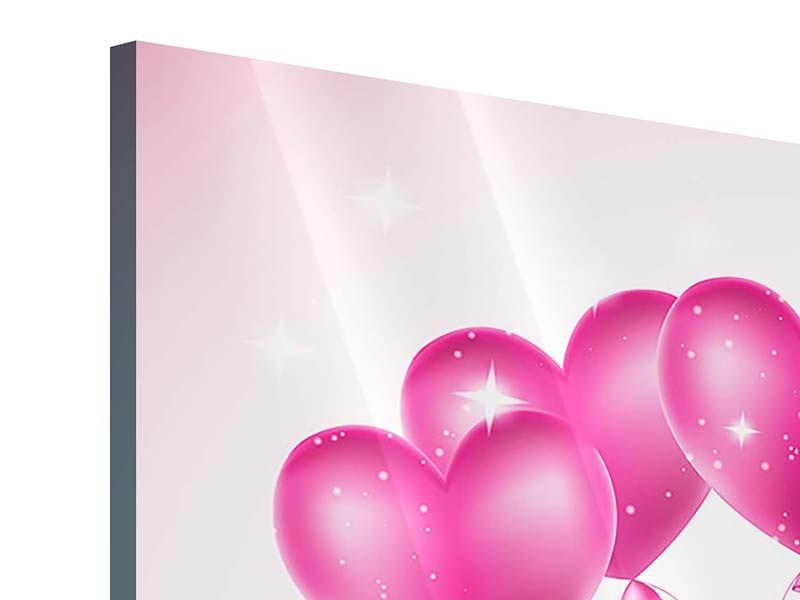 Acrylglasbild 4-teilig Herzballons