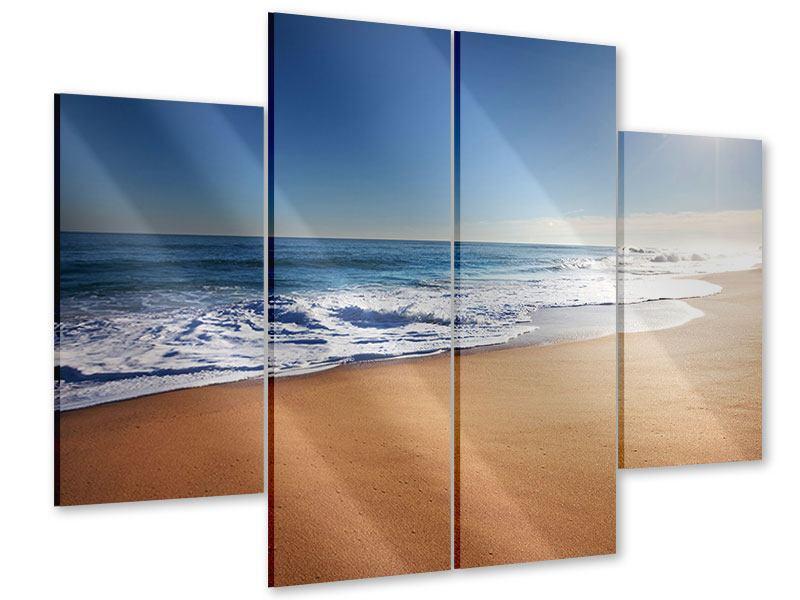 Acrylglasbild 4-teilig Privatstrand