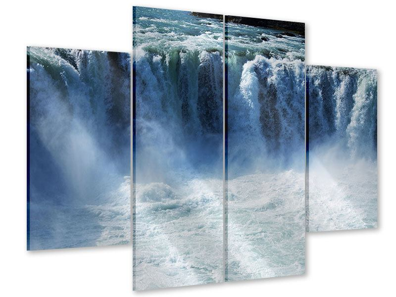 Acrylglasbild 4-teilig Mächtiger Wasserfall