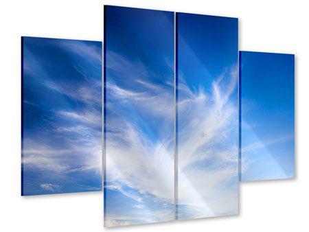Acrylglasbild 4-teilig Schleierwolken