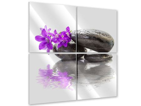 Acrylglasbild 4-teilig Feng Shui Steine