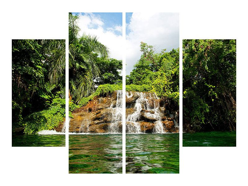 Acrylglasbild 4-teilig Lagune