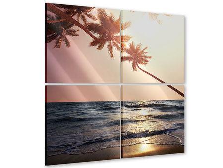 Acrylglasbild 4-teilig Am Meer