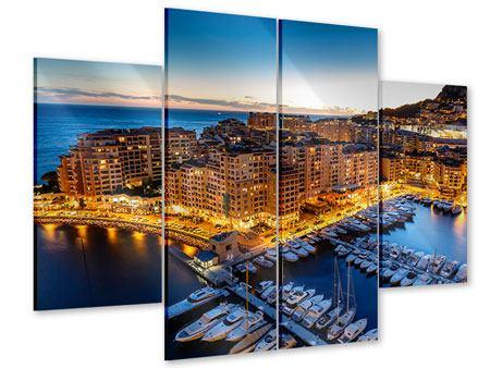 Acrylglasbild 4-teilig Monaco
