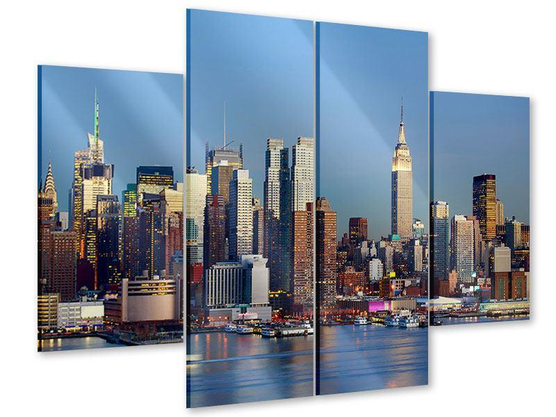 Acrylglasbild 4-teilig Skyline Midtown Manhattan