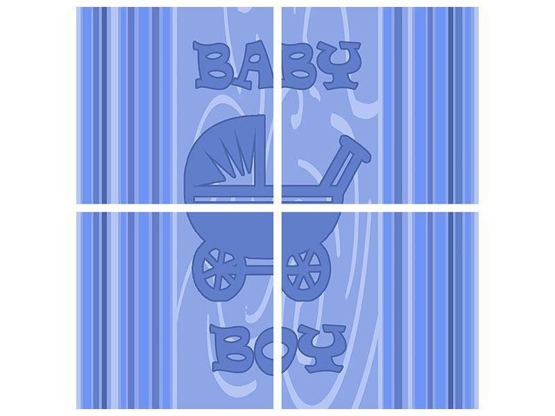 Acrylglasbild 4-teilig Baby-Boy