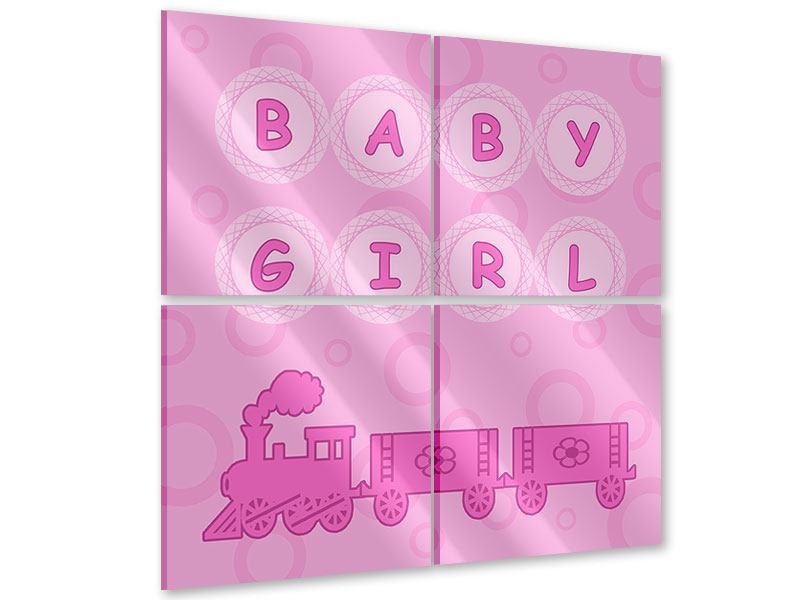Acrylglasbild 4-teilig Baby-Girl