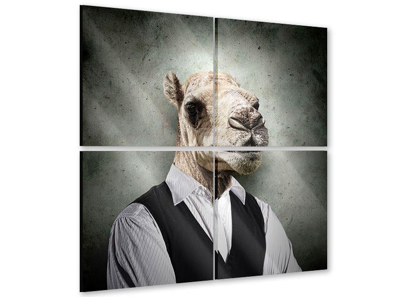 Acrylglasbild 4-teilig Das Portrait