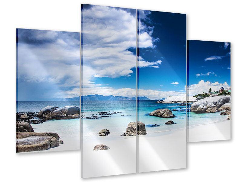 Acrylglasbild 4-teilig Inselfeeling