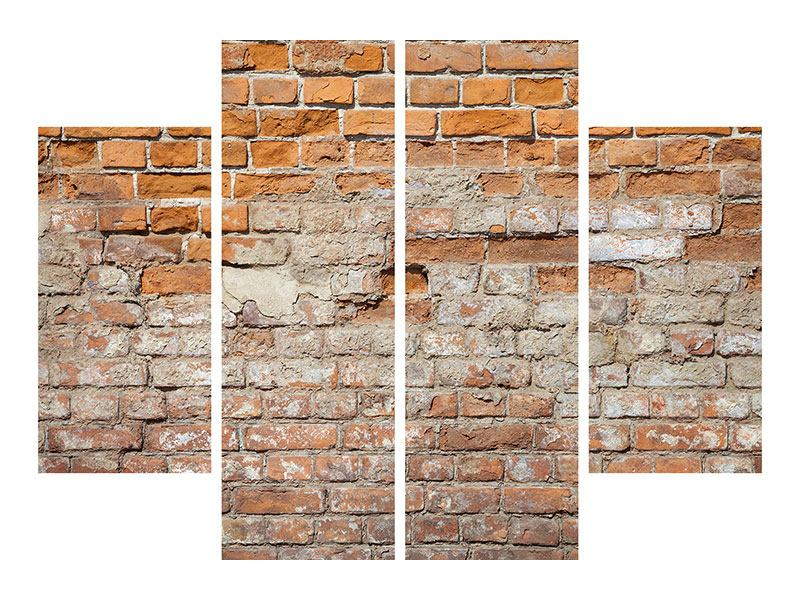 Acrylglasbild 4-teilig Alte Klagemauer