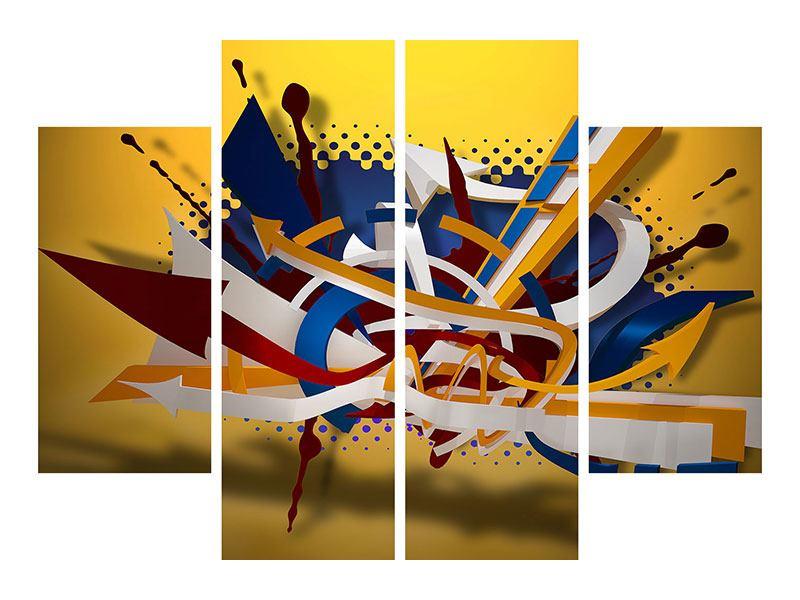 Acrylglasbild 4-teilig Graffiti Art