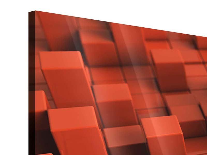 Acrylglasbild 4-teilig 3D-Rechtkant