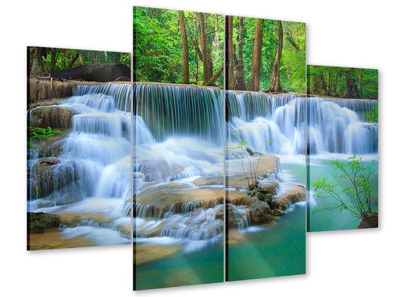 Acrylglasbild 4-teilig Kaskaden Huay Mae Khamin