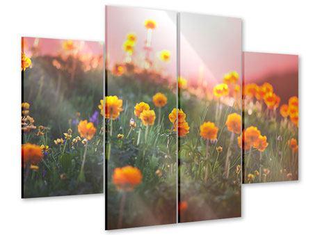 Acrylglasbild 4-teilig Die Bergwiese