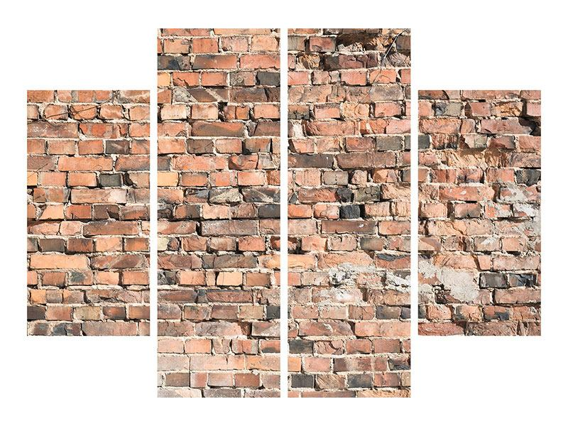 Acrylglasbild 4-teilig Alte Backsteinmauer