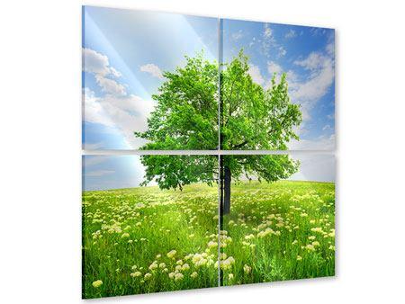 Acrylglasbild 4-teilig Der Baum