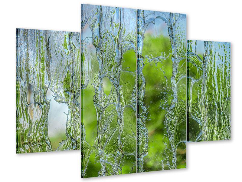 Acrylglasbild 4-teilig Hinter dem Wasserfall