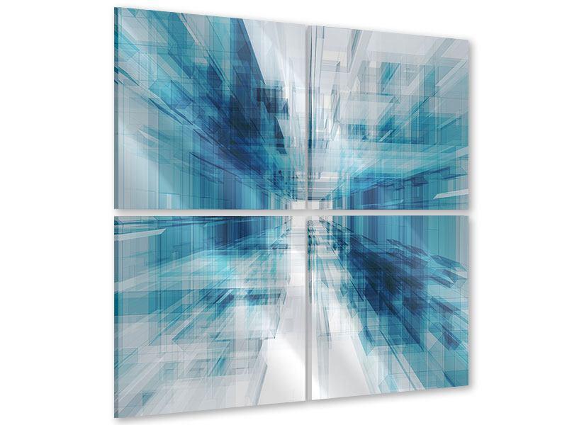 Acrylglasbild 4-teilig Abstrakte Raumerweiterung