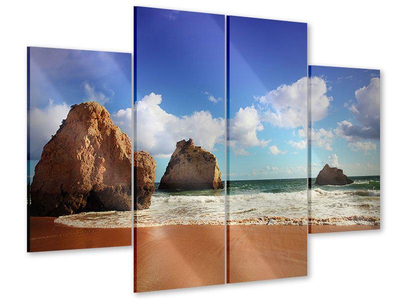 Acrylglasbild 4-teilig Strandgedanken