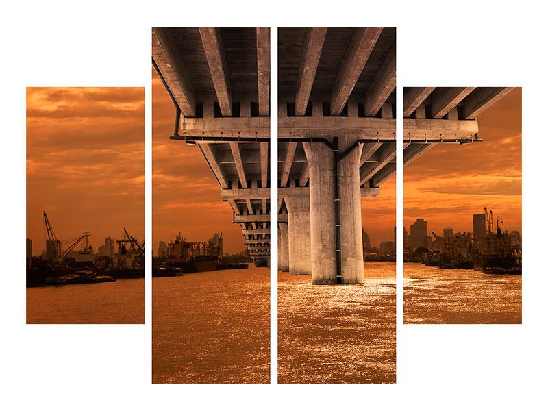 Acrylglasbild 4-teilig Die Brücke