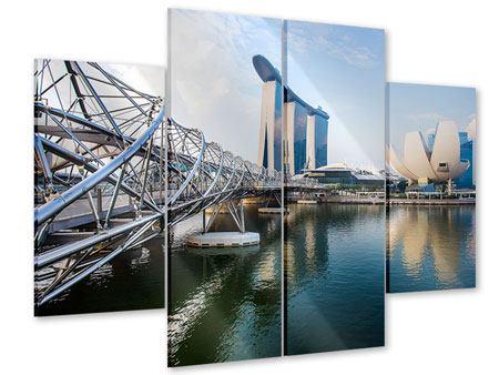 Acrylglasbild 4-teilig Singapur