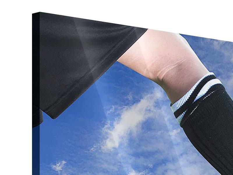 Acrylglasbild 4-teilig Fussball-Kicker