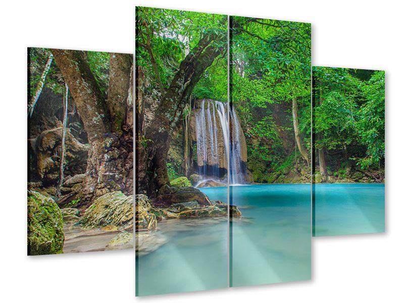 Acrylglasbild 4-teilig Fliessgewässer
